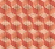 Abstract patroon met naadloze gebreide textuur Stock Afbeeldingen