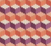 Abstract patroon met naadloze gebreide textuur Royalty-vrije Stock Foto