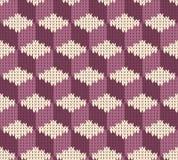 Abstract patroon met naadloze gebreide textuur Stock Foto's