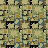 Abstract patroon, met sterren en geometrische vormen, mozaïek Royalty-vrije Stock Afbeeldingen