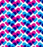 Abstract hartpatroon Stock Afbeelding