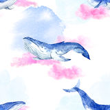 Abstract patroon met walvissen stock illustratie