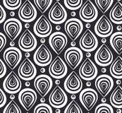 Abstract patroon met zwart-witte veren Royalty-vrije Stock Foto