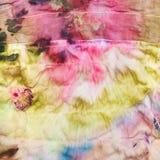 Abstract patroon op de gestikte doek van de zijdebatik Royalty-vrije Stock Foto's