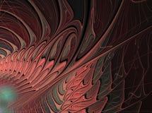 Abstract patroon op een donkere achtergrond Stock Afbeelding