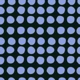 Abstract patroon van blauwe cirkels op donkere achtergrond Vector Illustratie