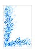 Abstract patroon van blauwe installaties Royalty-vrije Stock Afbeeldingen