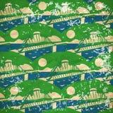 Abstract patroon van de bruggen over de rivier Stock Afbeelding