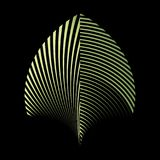 Abstract patroon van een installatieblad Stock Afbeeldingen