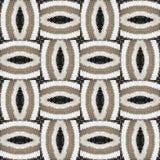Abstract patroon van gehaakte delen van de Mat Royalty-vrije Stock Afbeelding