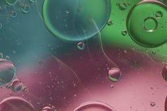 Abstract patroon van gekleurde oliebel Stock Afbeeldingen