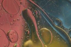 Abstract patroon van gekleurde oliebel Stock Foto