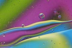 Abstract patroon van gekleurde oliebel Royalty-vrije Stock Foto