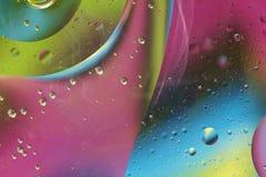 Abstract patroon van gekleurde oliebel Stock Foto's