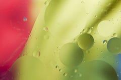 Abstract patroon van gekleurde oliebel Stock Fotografie