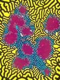 Abstract patroon van gekleurde vormen het 3d teruggeven Stock Afbeelding
