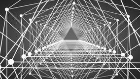 Abstract patroon van geometrische lijnen en puntenachtergrond Stock Foto
