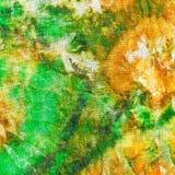 Abstract patroon van groene gele batik Royalty-vrije Stock Fotografie