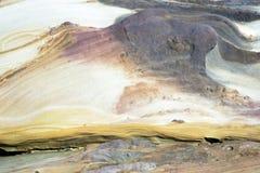 Abstract patroon van kleurrijke rots Stock Foto