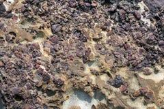 Abstract patroon van kleurrijke rots Stock Afbeeldingen