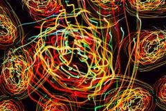 Abstract patroon van motielichten Stock Foto's