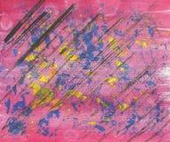 Abstract patroon van multicolored gouache vector illustratie