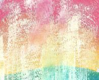 Abstract patroon van multicolored gouache royalty-vrije illustratie