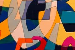 Abstract Patroon van Multicolored Kunstwerk Royalty-vrije Stock Afbeelding