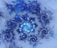 Abstract patroon van spiralen op een lichte achtergrond Stock Afbeeldingen
