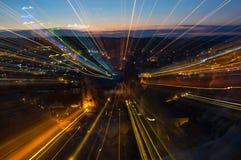Abstract patroon van stadslichten Stock Afbeeldingen