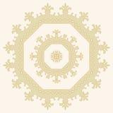 abstract patroon in vector mandala Royalty-vrije Stock Foto