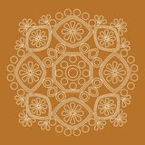 abstract patroon in vector Rond Patroon Mandala Royalty-vrije Stock Foto