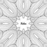 Abstract patroon voor de volwassen pagina van het antispannings kleurende boek, prentbriefkaar, drukmalplaatjes Royalty-vrije Stock Afbeelding