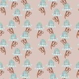 Abstract patroon voor textiel Royalty-vrije Stock Afbeelding