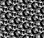 Abstract Patter Black on White. Stock Photos