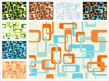 Abstract pattern. Abstract continuous pattern. File includes eight different color variations Royalty Free Stock Photo
