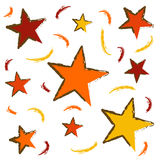 Abstract pattern. With stars and grunge look over white background vector illustration