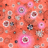 Abstract pattern. Seamless abstract pattern on a red background Royalty Free Stock Images