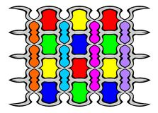 Abstract pattern. Stylized under a stained-glass window Royalty Free Stock Photography