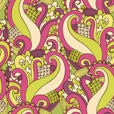 Abstract pattern. Vector abstract seamless background with scrolls Royalty Free Stock Photo