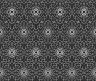 Abstract pattern. Dark background with Dark background with floral seamless pattern Royalty Free Stock Images
