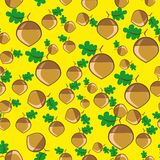 Abstract pattern with acorn Stock Photo