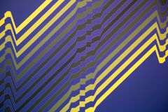 Abstract Pattern from ArtWork in Yellow, Blue and Black Royalty Free Stock Photos