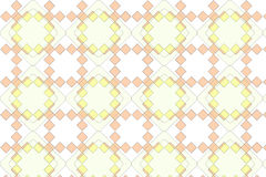 Abstract Pattern Background. An illustrated background with an abstract pattern of diamond shapes in orange and yellow colors Stock Photo