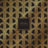 Abstract pattern background. In black and gold Stock Photos
