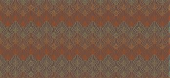 Abstract brown geometric pattern banner  seashells. Abstract pattern and background for banners with stylized geometric shells of brown and orange color Royalty Free Stock Photos