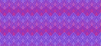Abstract purple geometric pattern banner  seashells. Abstract pattern and background for banners with stylized geometric shells of orange , purple and blue color Royalty Free Stock Image