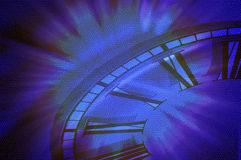 Abstract Pattern Background With Clock Face Royalty Free Stock Photos