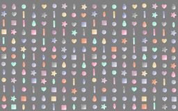 Abstract pattern background of small beads. Of different colors and shapes Royalty Free Stock Images