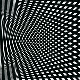 Abstract pattern of black lines on the white background Stock Image